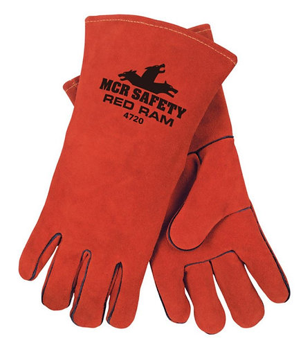 MCR Red Ram™ Premium Side Split  Leather Welding Work Gloves; 4720