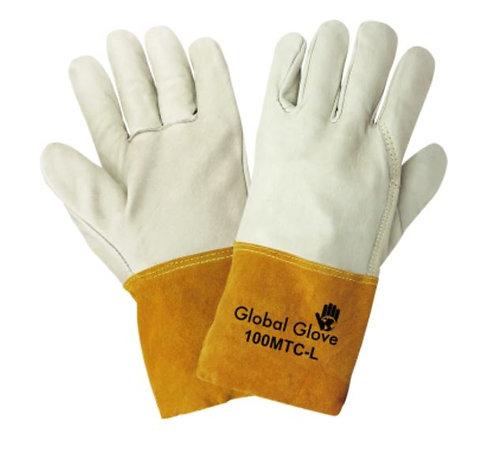 Global Glove Premium Grain Cowhide Mig/Tig Welder Gloves;100MTC