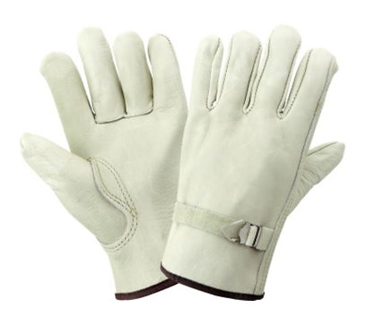 Global Glove Premium Grain Leather Drivers Style Gloves; 3200PS