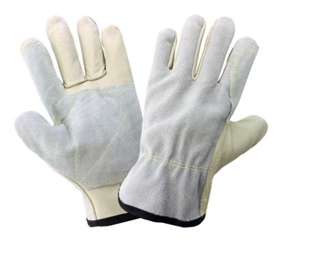 Global Glove Split Back Pigskin Leather with Double Palm Drivers Style Gloves