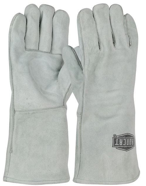 Ironcat® Shoulder Split Cowhide Leather Welder's Glove w/ Cotton Liner 9010