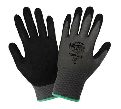 Global Glove Tsunami Grip Light - Mach Finish Nitrile Coated Gloves; 500G