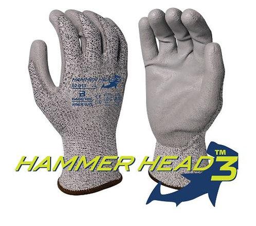 Armor Guys Basetek Hammerhead 3 Gray Polyurethane Palm Coated Glove; 02-013