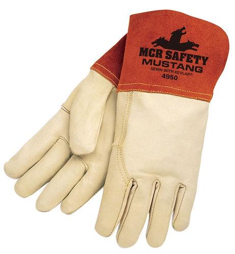 "MCR Mustang Premium Top Grain Cowskin Leather 4.5"" Gauntlet Cuff 4950"