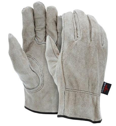 MCR Select Grade Brown Split Cow Leather Keystone Thumb Glove; 3130
