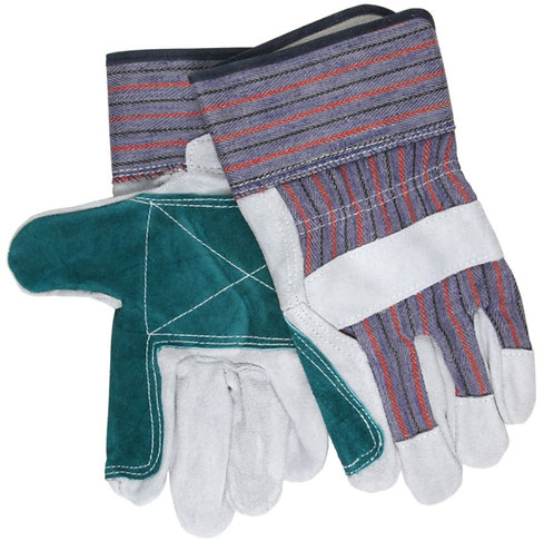 MCR Split Leather Double Palm Work Gloves; 1311