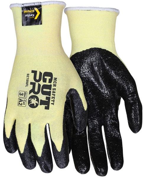 MCR Safety Cut Pro Stretch Kevlar & Textured Nitrile Coated Glove; 9693