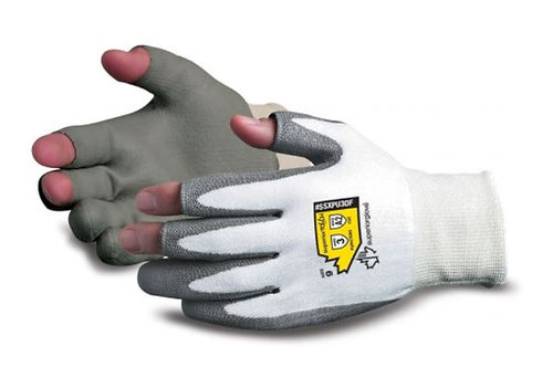 Superior Glove Open-Finger w/ Dyneema & Polyurethane Palm Coating; SSXPU3OF
