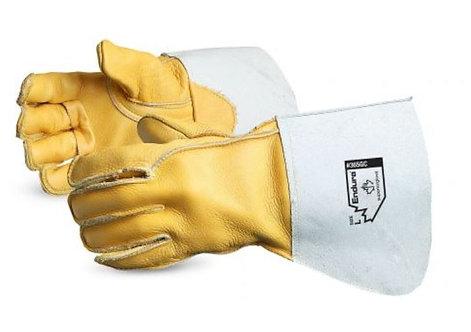 Superior Glove Endura® Deluxe Cowgrain Welding Gloves; 365GC