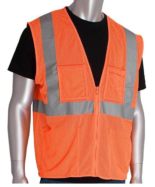 PIP Class 2 Four Pocket Value Mesh Vest; 302-MVGZ4P