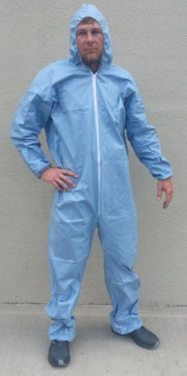 SunGard Fire Resistant Coveralls w/ Hood Elastic Wrist & Ankle
