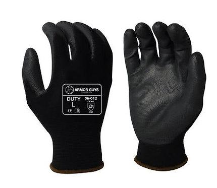 Armor Guys Duty Black Polyurethane Palm Coated Glove; 06-012