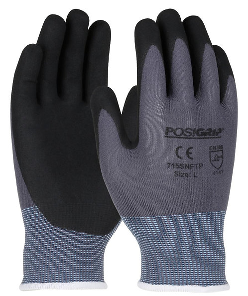 West Chester PosiGrip Nylon Glove with Nitrile Foam Grip; 715SNFTP