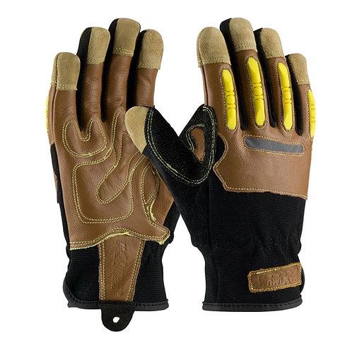 PIP Maximum Safety Goatskin Leather Palm Glove; 120-4100