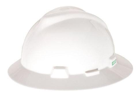 MSA V-Gard Full Brim Hard Hat w/ Staz-On Suspension