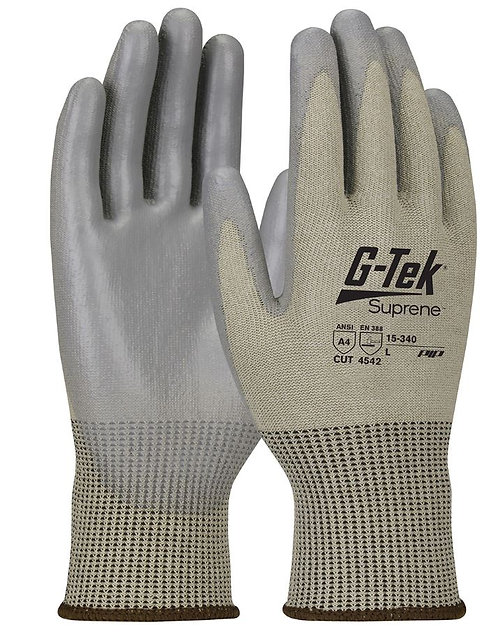 PIP G-Tek® Suprene™ Blend with Polyurethane Coated Smooth Grip Glove; 15-340