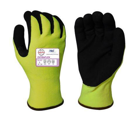 Armor Guys Extraflex Hi-VIS, HCT MicroFoam Nitrile Palm Coated Glove; 04-321
