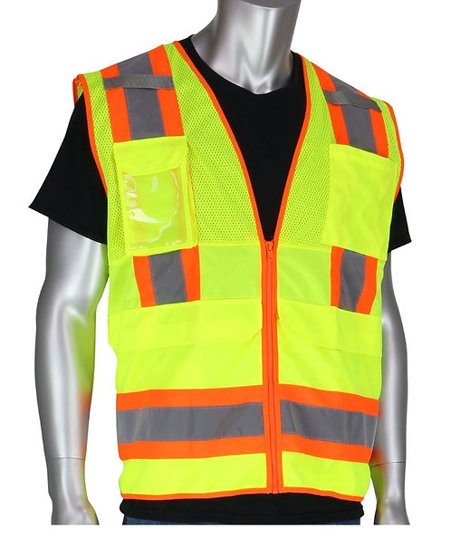 PIP Class 2 Two-Tone Ten Pocket Surveyors Tech Vest; 302-0700