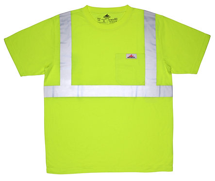 "MCR Class 2 Shirt w/ Polyester Jersey fabric &  2"" Silver Stripes; STSCL2SL"