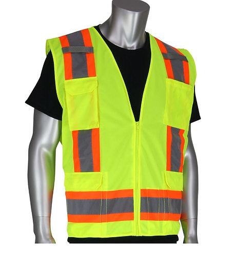 PIP Class 2 Two-Tone Eleven Pocket Vest; 302-0500