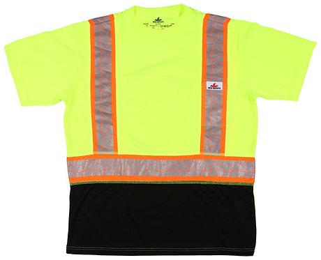 MCR ANSI Class 2 Polyester Birdseye Mesh Fabric Short Sleeve T-Shirt; FFSTC2SL