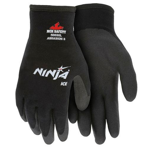 MCR Ninja Ice Black Nylon Glove; N9690