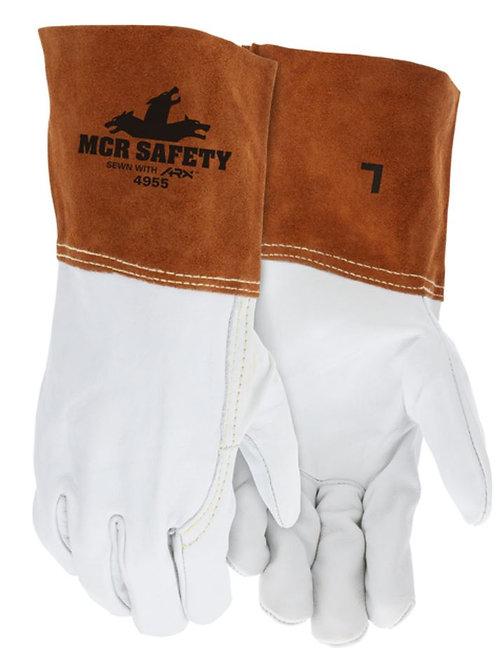 MCR Top Cow Grain Leather Welding Work Gloves; 4955
