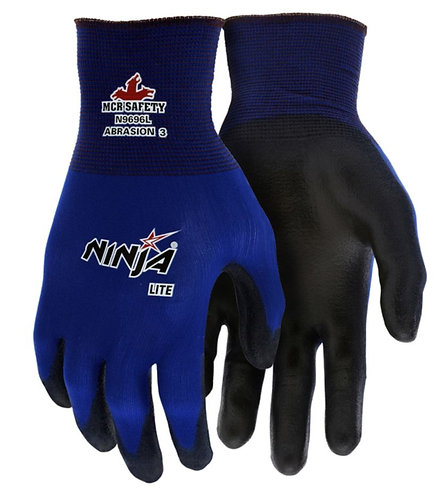 MCR Ninja Lite Blue Nylon Glove; N9696