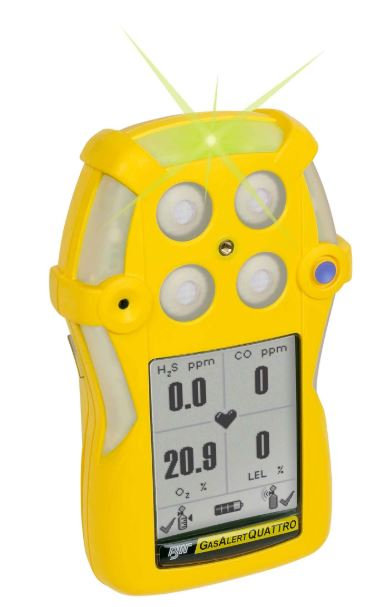 Honeywell BW GasAlert Quattro Gas Detector; 4 Gas