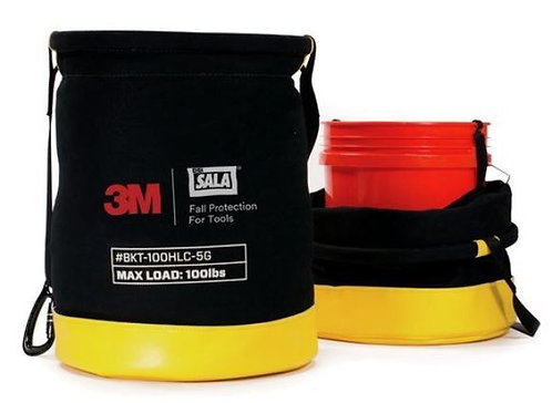 3M™ DBI-SALA® 5 Gallon Safe Bucket 100 lb. Load Rated Hook and Loop Canvas