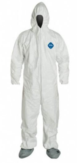 Dupont Tyvek Coverall w/ Boots & Hood; TY122S