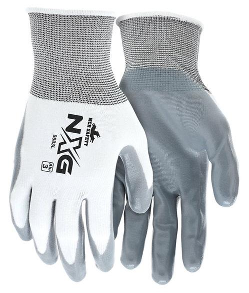 MCR Safety NXG Nylon Shell Gray Nitrile Coated Palm Glove; 9683