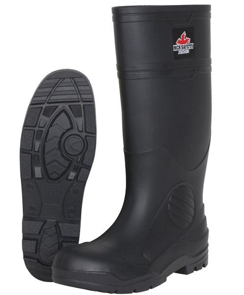 MCR 16 Inch Black PVC Work Boots w/ Steel Toe; VBS120