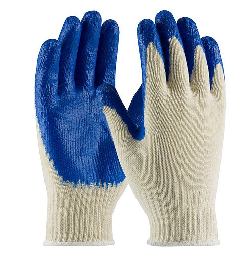 PIP Knit Cotton / Polyester Glove with Latex Coated Smooth Grip Glove; 39-C122