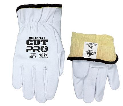 MCR Premium Grade Grain Goatskin Leather Driver Glove; 3601K