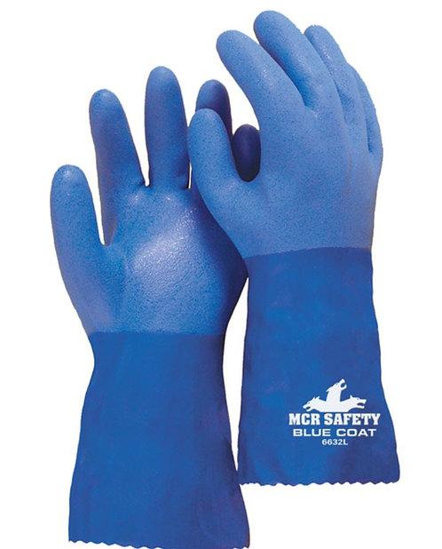 """MCR Flexible Seamless PVC, Bluecoat, 12"""" Gauntlet; 6632"""