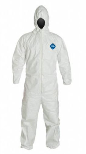 Dupont Tyvek Coverall w/ Hood, Elastic Wrist & Ankle; TY127