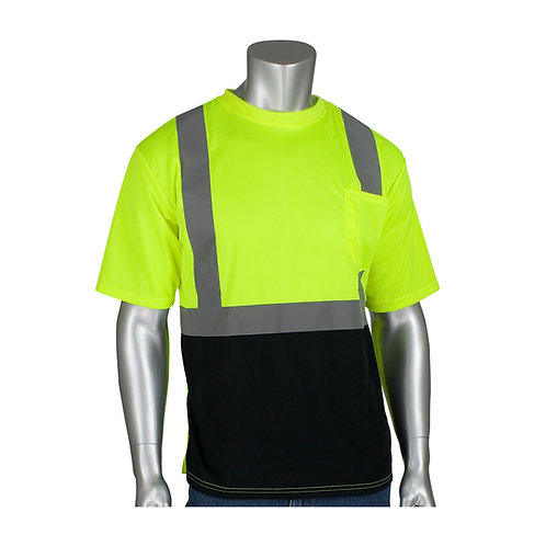 PIP ANSI Type R Class 2 Short Sleeve T-Shirt w/ Sun Protection; 312-1250B