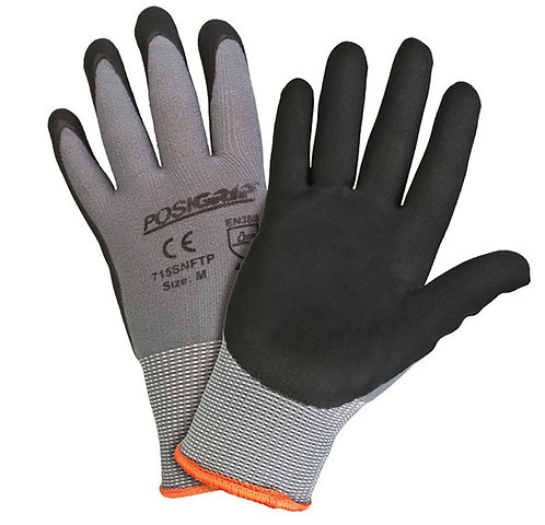 West Chester PosiShield Nylon, Nitrile Coated Glove; 715SNFTP