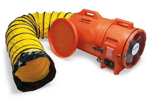 Allegro 12″ Axial AC Plastic Blower w/ Canister & 25' Ducting; 9543-25