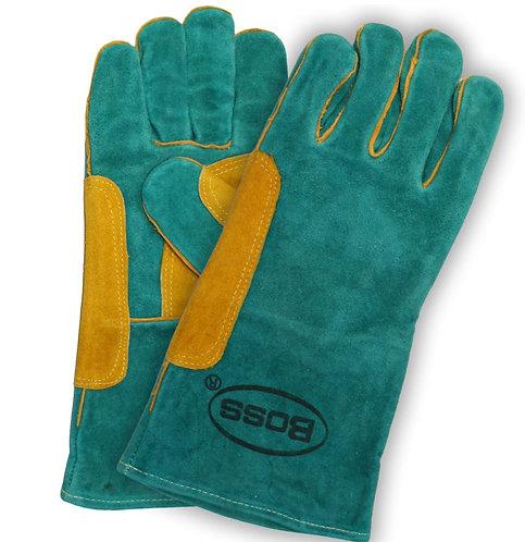 Boss® Split Cowhide Leather Welders Glove w/Fully Lined Fleece Palm: 1JL0946