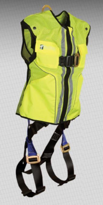 FallTech Hi-Vis Vest Construction Harness