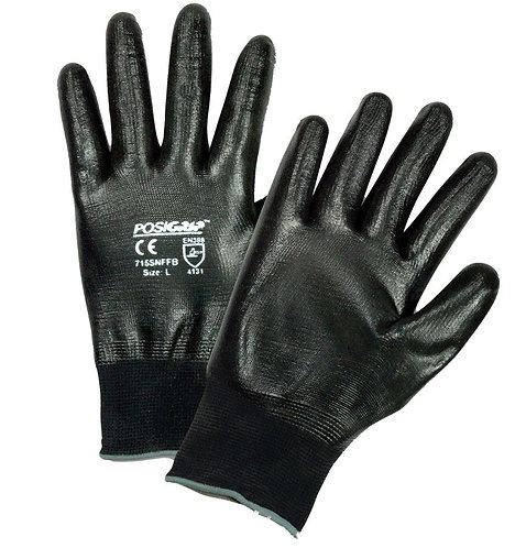 West Chester PosiGrip Nylon, Full Hand Nitrile Coated Glove; 715SNFFB