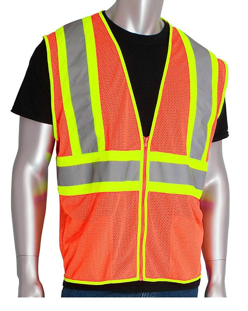 PIP Class 2 Value Two-Tone Mesh Vest; 302-MV