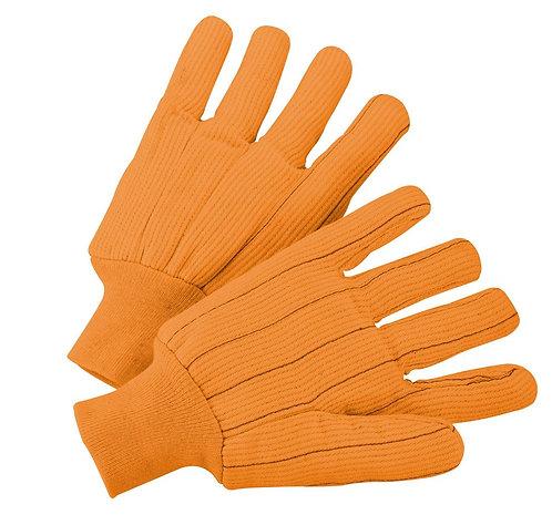 PIP Cotton Corded Double Palmw/ Nap-in Finish - Knitwrist Glove; K81SCNCI