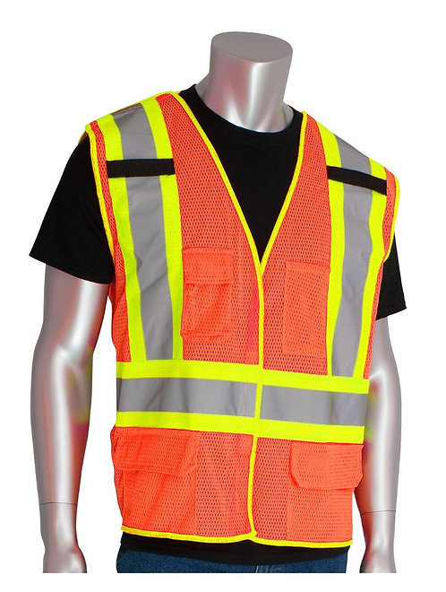 PIP Class 2 Five Pocket Breakaway Mesh Vest; 302-0212