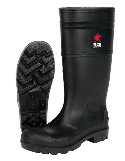 MCR 15 Inch Black PVC Work Boots w/ Steel Toe; PBS120