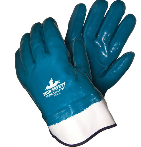 MCR Safety Predator Fully Coated Nitrile, Jersey & Foam Lining Glove; 9770
