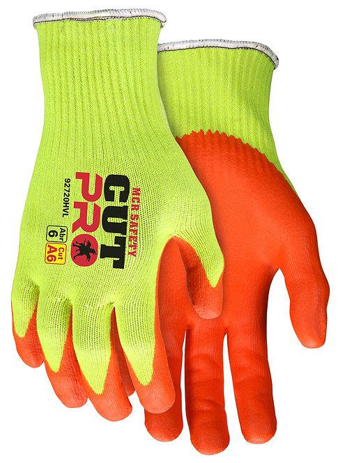 MCR Cut Pro® Hi-Vis HyperMax™ 10 Gauge Shell w/ Nitrile Foam Coating; 92