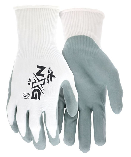 MCR NXG® 15 Gauge Nylon Shell Nitrile Dipped Glove; 9694